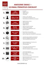 AWESOME EMAIL - 10 Email Principles Checklist