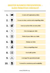 Business Presentation - 10 Principles Checklist